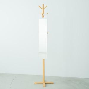 フックミラー (ホワイト) 幅20×奥行1.3×高さ100cm