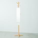 フックミラー(100) (ホワイト/白)  幅20cm×高さ100cm ウォールミラー/壁掛け/鏡/飛散防止加工/日本製/省スペース/スリム/完成品/NK-1000