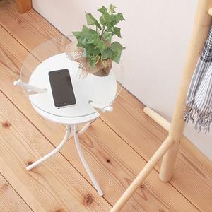 【6個セット】 ガラストップサイドテーブル(ホ...の紹介画像3