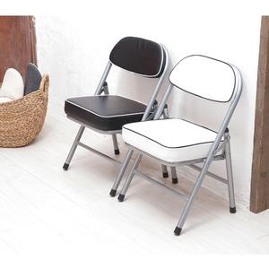 ハニーローチェア(ブラック/黒) 折りたたみ椅...の紹介画像3