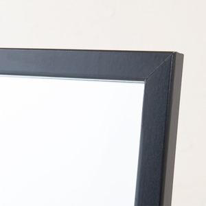 【4枚セット】クールスタンドミラー(ブラック/黒) 幅27cm 姿見/全身/ミラー/飛散防止加工/スリム/折りたたみ可/モダン/シンプル/業務用/完成品/NK-277