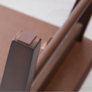 カフェテーブル(棚付)(ブラウン/茶/ウォールナット) 幅90×奥行40cm 机/ローテーブル/リビングテーブル/木目/木製/折りたたみ/高級感/モダン/北欧風/収納付/突板/NK-9006