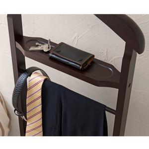 【6個セット】木製スーツラック(ブラウン/茶) ハンガーラック/衣類収納/スリム/学生服/スラックス掛け/北欧風/ナチュラル/モダン/業務用/NK-914