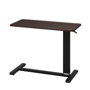 ガス圧昇降テーブル(ブラウン/茶)  幅80cm/机/デスク/リフティング/介護/木製/高さ調節/補助テーブル/ベッドテーブル/サイドテーブル/北欧風/モダン/NK-518
