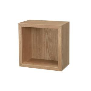 ウォールシェルフ ボックス型/幅20cm(ナチュラル) ウォールラック/飾り棚/壁面収納/木製/カフェ/壁掛け収納/ミニ/コンパクト/モダン/北欧風/完成品/WAL-04