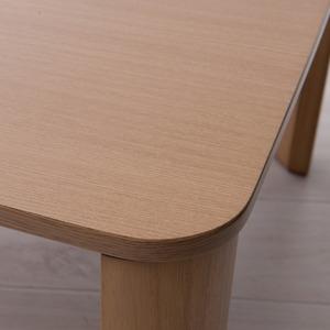 【3個セット】折りたたみテーブル(75×50cm)  幅75cm/机/デスク/ローテーブル/リビングテーブル/折れ脚/折りたたみ/木製/木目/ナチュラル/スリム/シンプル/北欧風/業務用/完成品/NK-075