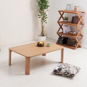 折りたたみテーブル(90×60cm)  幅90cm/机/デスク/ローテーブル/リビングテーブル/折れ脚/折りたたみ/木製/木目/ナチュラル/幅広/シンプル/北欧風/完成品/NK-096