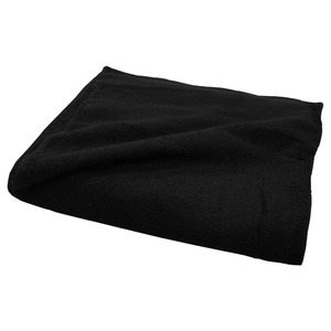 黒タオル 平地付き200匁 フェイスタオル 約34×86cm 【12枚組】