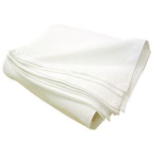 白タオル 320匁 フェイスタオル 約34×88cm 厚手 【12枚組】