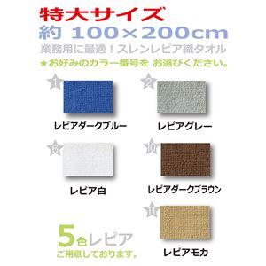 業務用レピア織超大判バスタオル 2000匁 100×200cm レピアモカ【12枚セット】