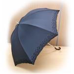 晴雨兼用 雨傘/日傘 【ブラック】 親骨長さ47cm UVカット率99%以上カット テイジン ナノフロント使用 遮熱パラソル