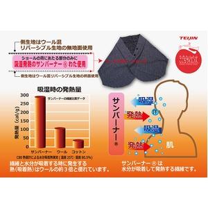 ヒートマルチショール/ポンチョ 【アイボリー】 日本製 約48cm×158cm ウール混 吸汗 発熱 蓄熱 調温 調湿 TEIJIN テイジン