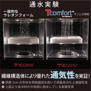 TEIJIN(テイジン) Tcomfort 3つ折りマットレス ダブル ボルドー 厚さ7cm