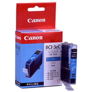 【純正品】 キヤノン(Canon) インクカートリッジ シアン 型番:BCI-3eC 単位:1個 h01