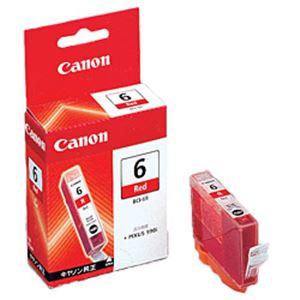 【純正品】 キヤノン(Canon) インクカートリッジ レッド 型番:BCI-6R 単位:1個 h01