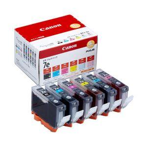 【純正品】 キヤノン(Canon) インクカートリッジ 6色マルチパック 型番:BCI-7e/6MP 単位:1箱(6色セット) h01