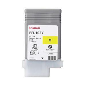 【純正品】 キヤノン(Canon) インクカートリッジ イエロー 型番:PFI-102Y 単位:1個 h01