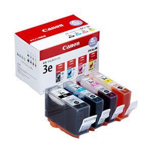 【純正品】 キヤノン(Canon) インクカートリッジ 4色マルチパック 型番:BCI-3e/4MP 単位:1箱(4色セット) h01