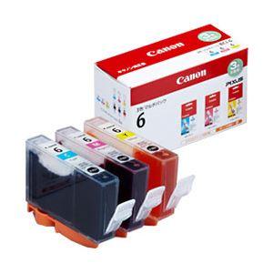 【純正品】 キヤノン(Canon) インクカートリッジ 3色マルチパック 型番:BCI-6/3MP 単位:1箱(3色セット) h01