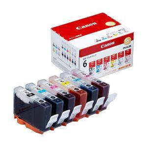 【純正品】 キヤノン(Canon) インクカートリッジ 6色セット 型番:BCI-6/6MP 単位:1箱(6色セット) h01