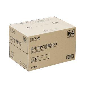【まとめ買い】王子製紙 再生PPC用紙100 B4(箱) 1箱(500枚×5冊) h01