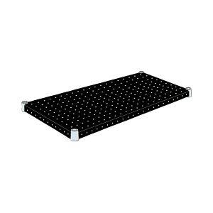 エレクター パンチングシェルフ<ブラック> W120×D35