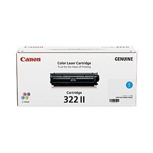 【純正品】 キヤノン(Canon) トナーカートリッジ シアン 型番:カートリッジ322II(C) 単位:1個 h01