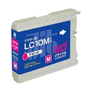 ブラザー工業(BROTHER)プリンター対応 リサイクルインクカートリッジ 対応純正カートリッジ型番:LC10M 色:マゼンタ 単位:1個 h01