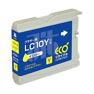 ブラザー工業(BROTHER)プリンター対応 リサイクルインクカートリッジ 対応純正カートリッジ型番:LC10Y 色:イエロー 単位:1個 h01