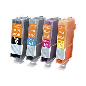 キヤノン(Canon)プリンター対応 リサイクルインクカートリッジ 対応純正カートリッジ型番:BCI-3e/4MP 色:4色マルチパック 単位:1箱(4色セット) h01