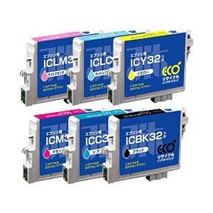 エプソン(EPSON)プリンター対応 リサイクルインクカートリッジ 対応純正カートリッジ型番:IC6CL32 色:6色セット 単位:1箱 h01