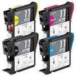 ブラザー工業(BROTHER) インクカートリッジ 4色セット 汎用 LC11-4PK対応 単位:1個