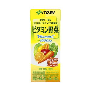 【まとめ買い】伊藤園 ビタミン野菜 紙パック 1箱(200ml×24本)
