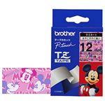 ブラザー(BROTHER) ピータッチ用TZeテープ ミッキー&ミニーピンク テープ幅:12mm