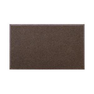 クリーンテックス・ジャパン 玄関マット ウォーターホースT W146×D88 ブラウン 1枚 【業務用】 - 拡大画像