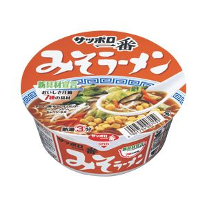 【まとめ買い】サンヨー食品 サッポロ一番 どんぶり みそ 1箱(81g×12個) - 拡大画像
