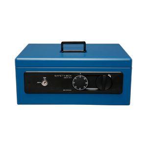 手提げ金庫 A4 深型 SBX-A4 ブルー 1台 - 拡大画像