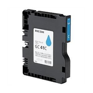 【純正品】 リコー(RICOH)対応 インクカートリッジ シアン Mサイズ 1個 型番:GC41C h01