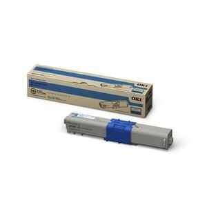 【純正品】 OKI(沖データ)対応 トナーカートリッジ シアン 小容量 印字枚数:2000枚 1個 型番:TNR-C4KC3 h01