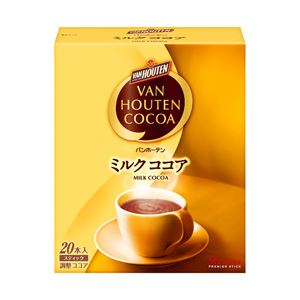 【まとめ買い】片岡物産 バンホーテン ミルクココア 1箱(16g×20本)