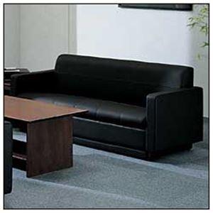 コクヨ 3人掛けソファー 本体 本革製 ブラック CE-253CLGB6 【オフィス応接用】の詳細を見る
