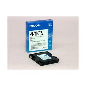 リコー対応 インクカートリッジ シアン Sサイズ 型番:GC41CS 1個 RI-INGC41CY-SHJ