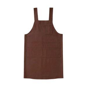 マルチエプロン ブラウン ●サイズ:着丈/100cm、身幅/104cm ●材質:ポリエステル65%、綿35% 1枚 8476517