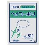 (業務用セット) ポリエチレン袋 厚口 50枚入 No.811:縦30×横20cm 【×10セット】