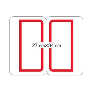 (業務用セット) ニチバン マイタック PCインデックス 27×34mm 赤枠  【×20セット】