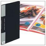 (業務用セット) クリアファイル カラーベース(タテ) A4・ポケット10枚・ブラック 【×10セット】