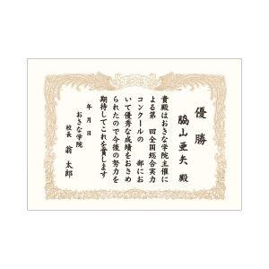 (業務用セット) オキナ OA対応賞状用紙 10枚入 A4 タテ書き 【×10セット】
