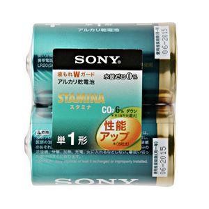 (業務用セット)ソニーアルカリ乾電池スタミナ単1形1パック(2本)【×10セット】