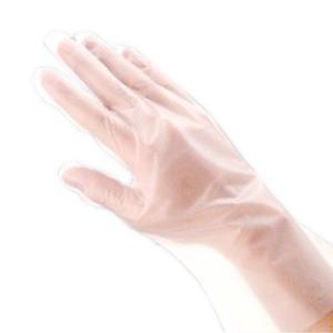 (業務用セット) 福助工業 ポリ手袋 指フィット 100枚パック S 【×10セット】