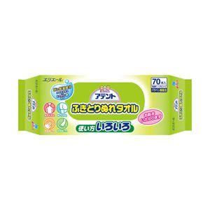 (業務用セット) アテント ふきとりぬれタオル(全身用) 1パック70枚 【×10セット】